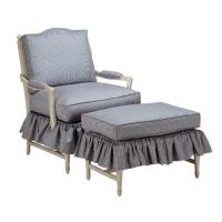 Buy cheap Cushion Fabric Sofa Skirt Upholstered Chair With Ottoman , Modern Chair And Ottoman from wholesalers