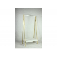 Buy cheap White 75cm Long 160cm High Coat Rack With Shoe Bench from wholesalers