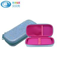 Buy cheap Blue flowers OEM available EVA PU pencil case for school children from wholesalers