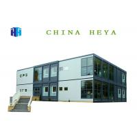 Buy cheap Anti Wind Double Storey Prefab Houses Container Dormitory For Students / Workers from wholesalers