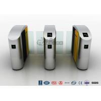 Buy cheap Waist Height RFID Turnstile Security Systems Automatic Flap Barrier Turn Style Door product