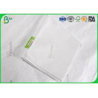 Buy cheap Wood Pulp Fabric Tyvek Building Paper , Waterproof 75gsm 1073D Tyvek Wrapping Paper from wholesalers