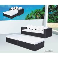Buy cheap 4 piece -Wicker Rattan conversation shore beach  sofa bed daybed sunbed-9009 from wholesalers