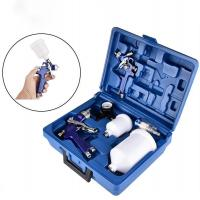 Buy cheap Model 827+H2000Mini Spray Gun Kits Electric Plated Blue Color Portable Plastic Box from wholesalers