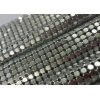 Buy cheap Sparkling Decorative Aluminum Sequin Metallic Mesh Fabric Flat Shape Matted / Shining Surface from wholesalers