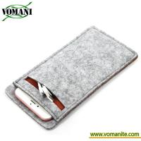Buy cheap Universal smart phone wallet leather bags Felt phone case for 5.5 iphone 6 plus from wholesalers