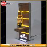 Buy cheap Galvanized Steel Base Zebrano Wood Corona Extra Light Beer Bottle Glorifier LED Back Bar Display from wholesalers