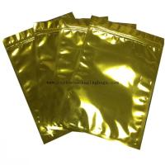 Buy cheap Reusable Plastic Ziplock Bags Metallic Golden Mylar Pouch Aluminum Foil For Food from wholesalers