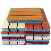 Buy cheap Indoor Veneer Finish Wooden Grooved Acoustic Panel Fire Retardant from wholesalers