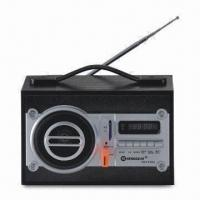 Buy cheap Clock Radio with USB/SD Slot, Remote Controller, 3.5-inch Speaker and 1,200mA Rechargeable Battery from wholesalers