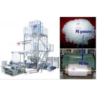 Buy cheap LDPE / HDPE / LLDPE /PA/ PP LC-X3-FM1350 three layer co-extrusion PE film blowing machine from wholesalers