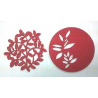 Buy cheap 7cm Red Fine Promotional Coaster Gifts Cheap Home Decorative Items of Paper Cuts Pictures from wholesalers