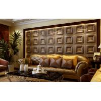 Quality Customized Auditorium Deco Material 3D Wall Board / Leather 3D Wall Paper Light for sale