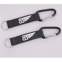 Buy cheap factory eco-friendly promotional custom carabiner short lanyard with strap keying from wholesalers