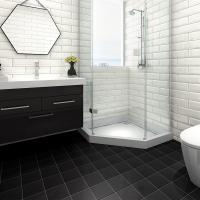 Buy cheap Ceramic Bathroom Black Glossy Floor Tiles 200X200 Strong Stain Resistance from wholesalers