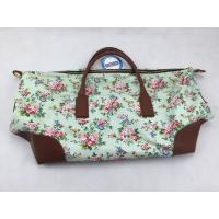 Buy cheap Custom Printed Reusable Shopping Bags Floral Handbag With Leather Handle product