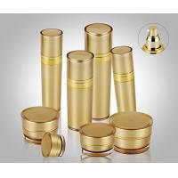 Buy cheap 5ml-120ml Golden Pyramid Round Acrylic Lotion Bottle Packaging for skin care product