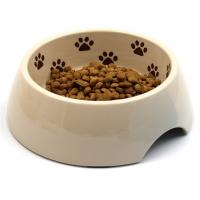 Paw Printed Outside Dog Food Bowl , A5 Melamine Middle Size Dog And Cat Bowls