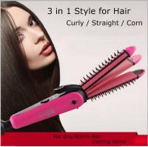 China NHC-8890 3 in 1 Hair Straightener Hair Stick Hair Curler Hair Clipper on sale