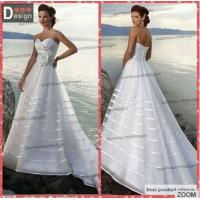 Buy cheap Elegant Sweetheart White Skirt Beach Off Shoulder Zipper Up Wedding Dress 2015 Organza from wholesalers