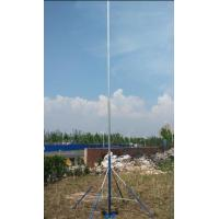 Buy cheap antenna mast 3--15m telescopic mast 4 legs tripod stand 10kg load aluminum mast hand push erected and winch up from wholesalers