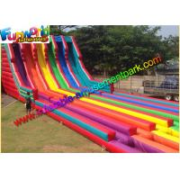 Buy cheap 0.55mm Pvc Tarpaulin Commercal Inflatable Slide ,Super Six Slide For Garden from wholesalers