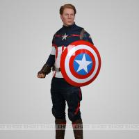 Buy cheap Actor Steve Rogers Celebrities Wax Figures Lifelike Celebrity Role In Captain Amercia from wholesalers