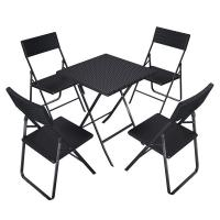Buy cheap Camping Foldable Table And Chairs 61x75x61 Cm With Rattan Like Plastic Surface product