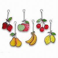 Buy cheap Metal and Glass Crafts, Stained Glass Fruit Ornament, OEM Orders are Welcome from wholesalers