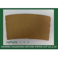 Buy cheap Personalized Paper Cup Sleeves Brown Color Kraft Paper Environmental Protection from wholesalers