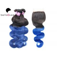 Buy cheap BellaQueen 4PCS One Set  Ombre Remy Hair Extensions Indian Remy Hair product