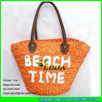 Buy cheap LUDA french straw bag leather handles cornhusk straw embroidery bag from wholesalers