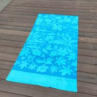 Buy cheap Sky Blue Swimming Adult Beach Towels Coconut Tree With Palm Beach from wholesalers