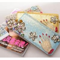 Buy cheap new female long zipper wallet,damond wallet from wholesalers