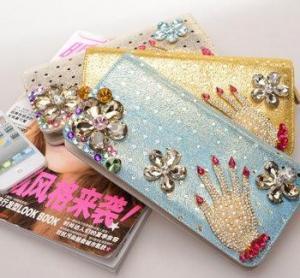 Buy cheap 2014 new female long  zipper wallet,damond wallet product