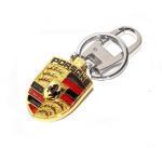 Buy cheap Porsche Roadster brand logo metal key ring,Porsche car logo brand key chains,11x4.5cm,45g from wholesalers