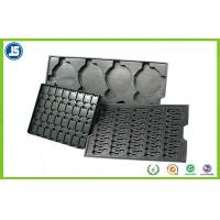 Buy cheap Electronic PS Black 0.45 mm Plastic ESD Trays , Anti-static Compartment Tray product