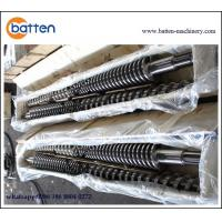 Buy cheap Conical Twin Screw Barrel for WPC Extrusion /  WPC Extruder Conical Twin Screw Barrel from wholesalers