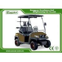 Buy cheap Right Hand Steering Brown 48V AC motor Mini Electric Golf Buggy EXCAR golf cart from wholesalers