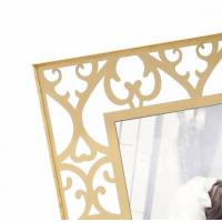 Buy cheap Desktop Stand Personalised Glass Picture Frames Contemporary Gold Design from wholesalers
