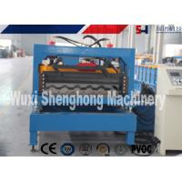 Buy cheap PLC Control Roof Roll Forming Machine , Metal Roof Panel Roll Former Machine from wholesalers