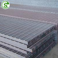 Buy cheap hot dip galvanized anti slip bar steel grating weight Steel grid welded bar floor grating from wholesalers