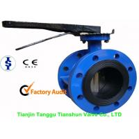 Buy cheap ANSI Large Double Flanged Butterfly Valve Cast Iron With Electric / Manual from wholesalers