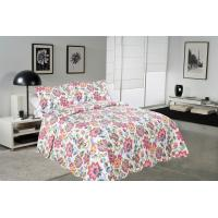 Cockscomb Flower Double Bed Quilt Covers , Microfiber Fabric Quilt Cover Sets