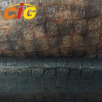 Buy cheap 137cm Width 0.6mm PVC Decoration Leather Fabric With Plush Backing Tear Resistant product