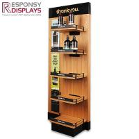 Buy cheap Custom Floor Wood Hand Cream Shampoo Cosmetic Display Shelves from wholesalers