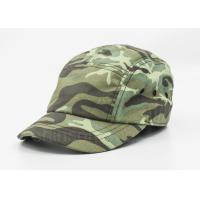 Buy cheap 5 / 6 Panels Cotton Military Cap Camouflage With Metal Snap Fastener from wholesalers
