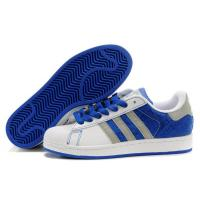 Buy cheap cheap Adidas Superstar II - White / Blue / Print Model: 250 from wholesalers