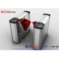 Buy cheap 304 Stainless Steel Heavy Duty Automatic Flap Barrier Turnstile For Entrance & Exit Control System product