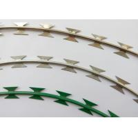 Buy cheap NATO Razor Barbed Wire Strip With Hot Dipped Rolled Plate Blade Erosion Resistant from wholesalers